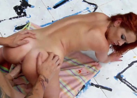 Redhead Dixie gets her young pussy pounded